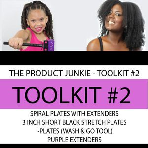 """Pre-order your """"PRODUCT JUNKIE"""" Kit (Toolkit #2)    (24) SPIRAL PLATES WITH EXTENDERS  (20) I-PLATES (WASH AND GO PLATES)  (24) SMALL BLACK STRETCH PLATES (3INCHES)  (24) PURPLE PLATES"""