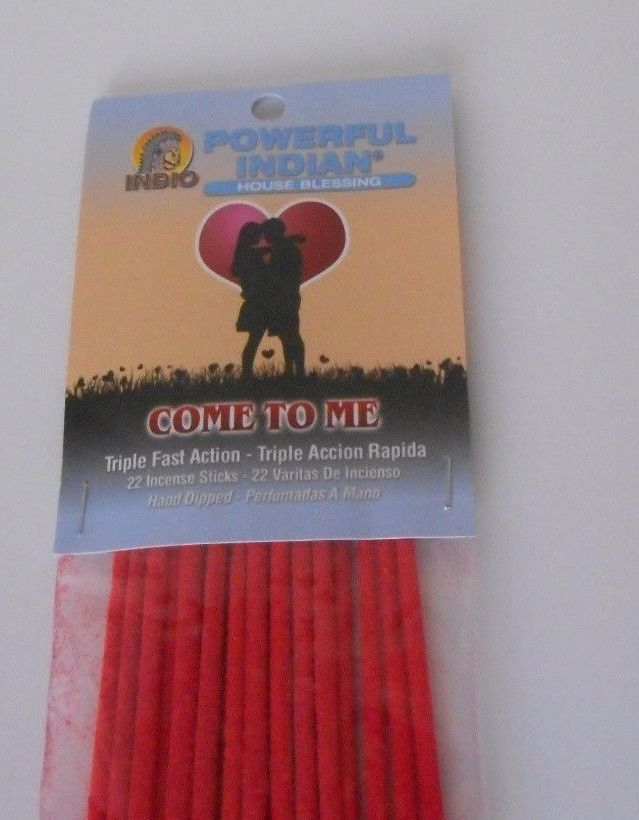 Powerful Indian 22 pack stick incense COME TO ME (attract