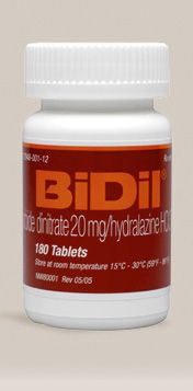 First treatment specifically for African Americans with heart failure  BiDil® (isosorbide dinitrate/hydralazine hydrochloride) is a medicine for the treatment of heart failure in African Americans that has been approved by the U.S. Food and Drug Administration (FDA). BiDil is approved for use in addition to routine medicines to treat heart failure in African American patients, to extend life, improve heart failure symptoms, and help heart failure patients stay out of the hospital longer.
