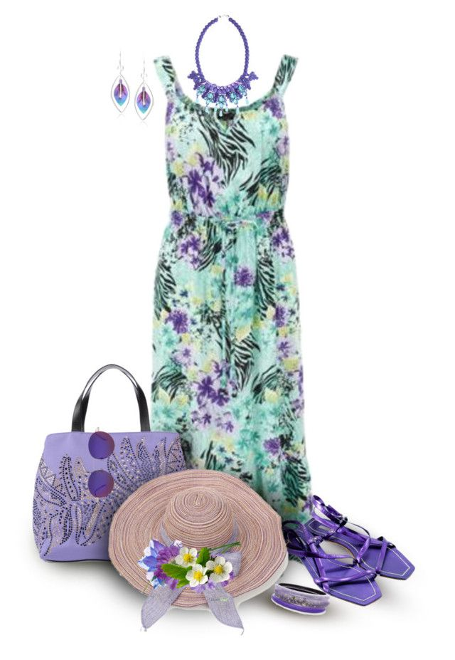 Tropical Sun Dress Contest by franceseattle on Polyvore featuring polyvore, fashion, style, Miu Miu, Just Cavalli, Ek Thongprasert, Alexis Bittar, Journee Collection, Gucci and clothing