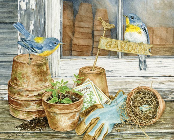Lang March 2014: Birds In The Garden