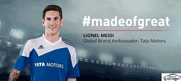Famous Global Football Player Lionel Messi is now Brand Ambassador for Tata Motors | Car Crox
