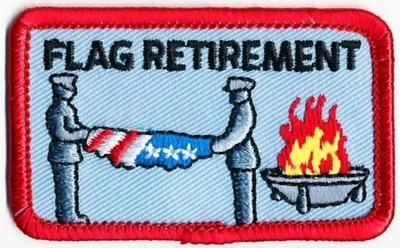 Girl Boy Cub Flag Retirement Burning Patches Crests Badges Scout Guide Ceremony | eBay