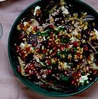 Radicchio, beetroot and giant couscous salad.