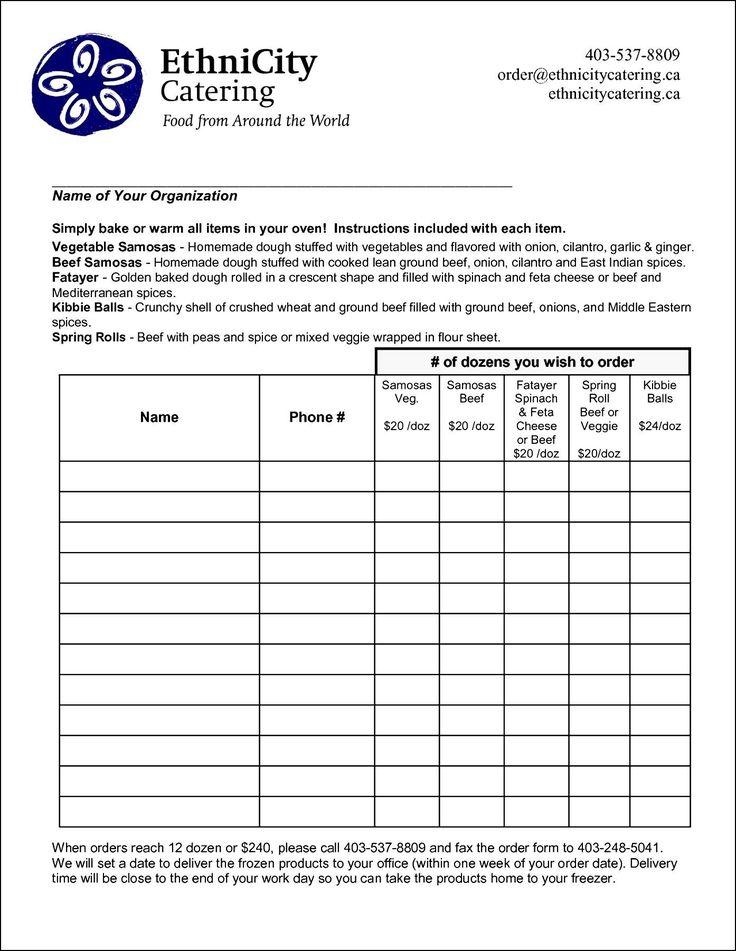 food order form template besttemplates123 sample order. Black Bedroom Furniture Sets. Home Design Ideas