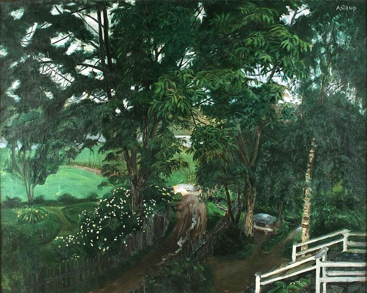 "suonko: ""Rainy Atmosphere under the Trees by Jølster Vicarage """
