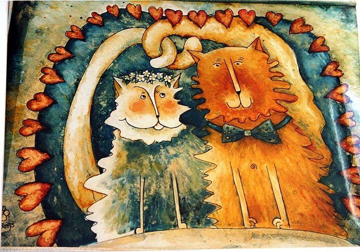 KOCURKI malowane na szkle Danuta Rożnowska-Borys - BorysArt