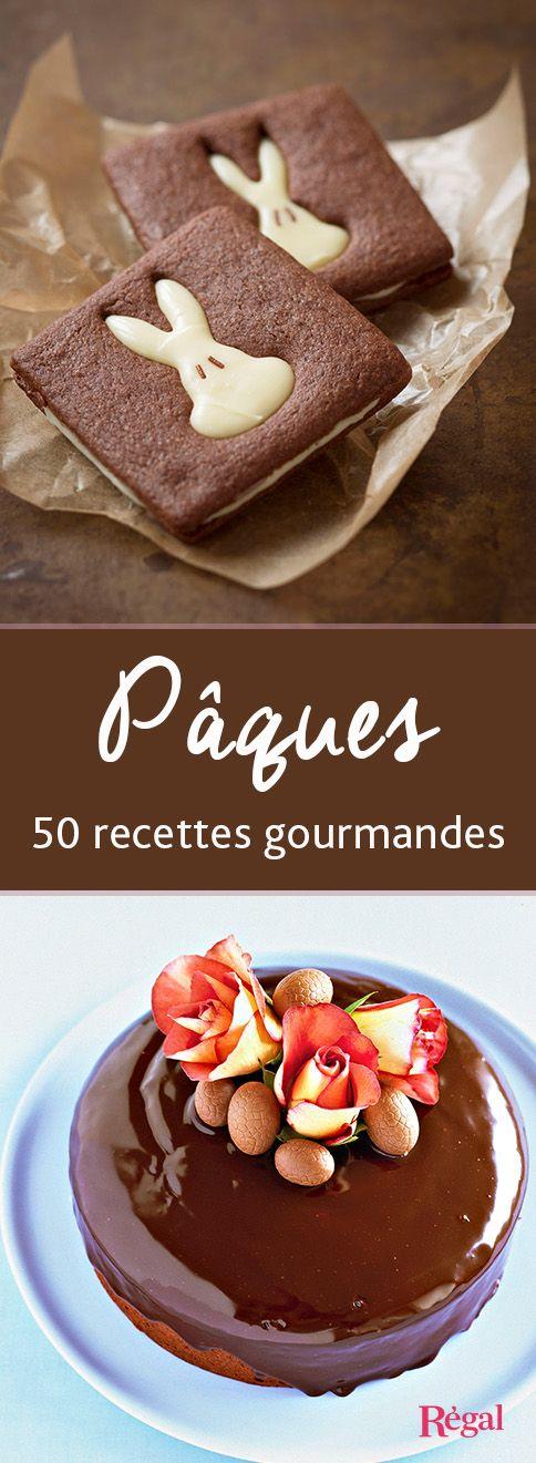 50 recettes pour vous régaler de l'entrée au dessert à Pâques ! Légumes primeurs, agneau, lapin, chocolat et fraises, c'est un délice.