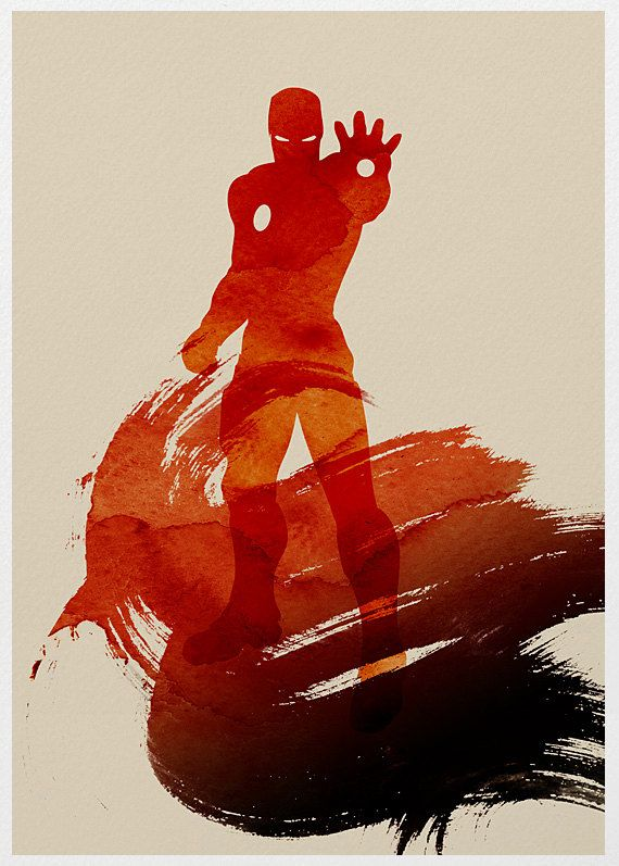 The Avengers Iron man A3 Poster Print. $18.00, via Etsy.