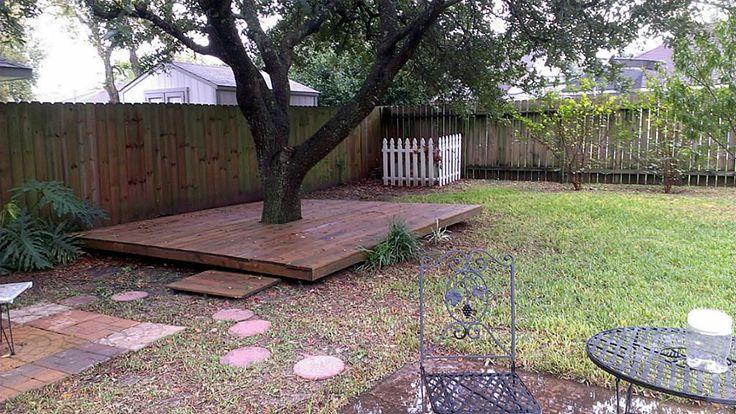 terrasse autour d 39 un arbre jardin pinterest arbres terrasse et photos. Black Bedroom Furniture Sets. Home Design Ideas