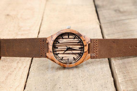 Wooden watch for men Custom watch Groomsmen by DailyApparelCustoms