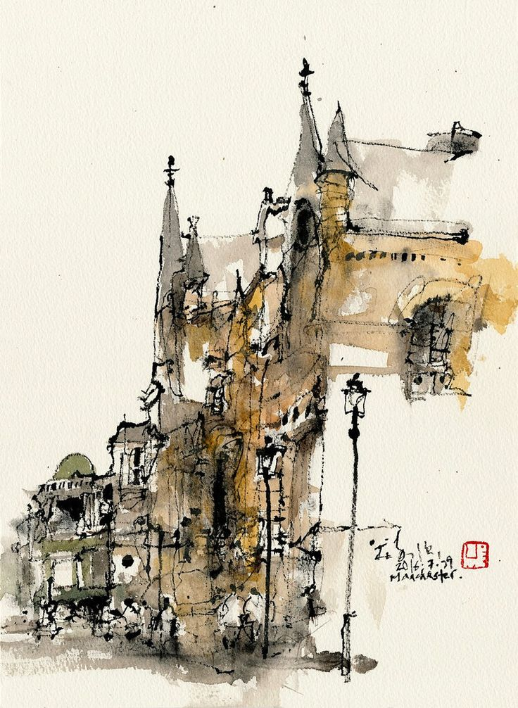 Akvarel.. - Page 14 408d409b17e3cae344bb862453fb59b2--architecture-sketches-urban-sketchers