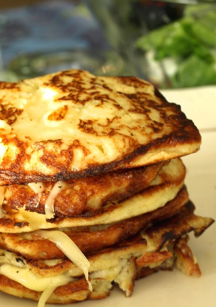 Potato pancakes with jarlsberg - for leftover mashed potatoes