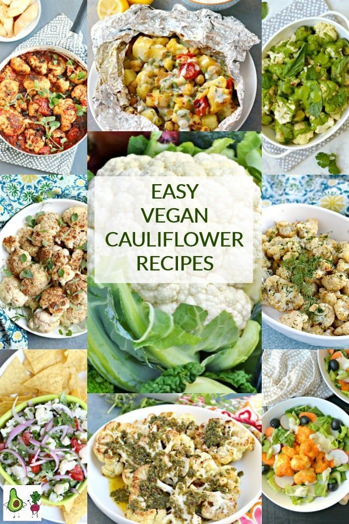 Easy Vegan Cauliflower Recipes Vegan Cauliflower Recipes Cauliflower Recipes Vegan Cauliflower