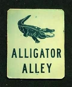 alligator alley sign - the main road through the everglades between west and east coast