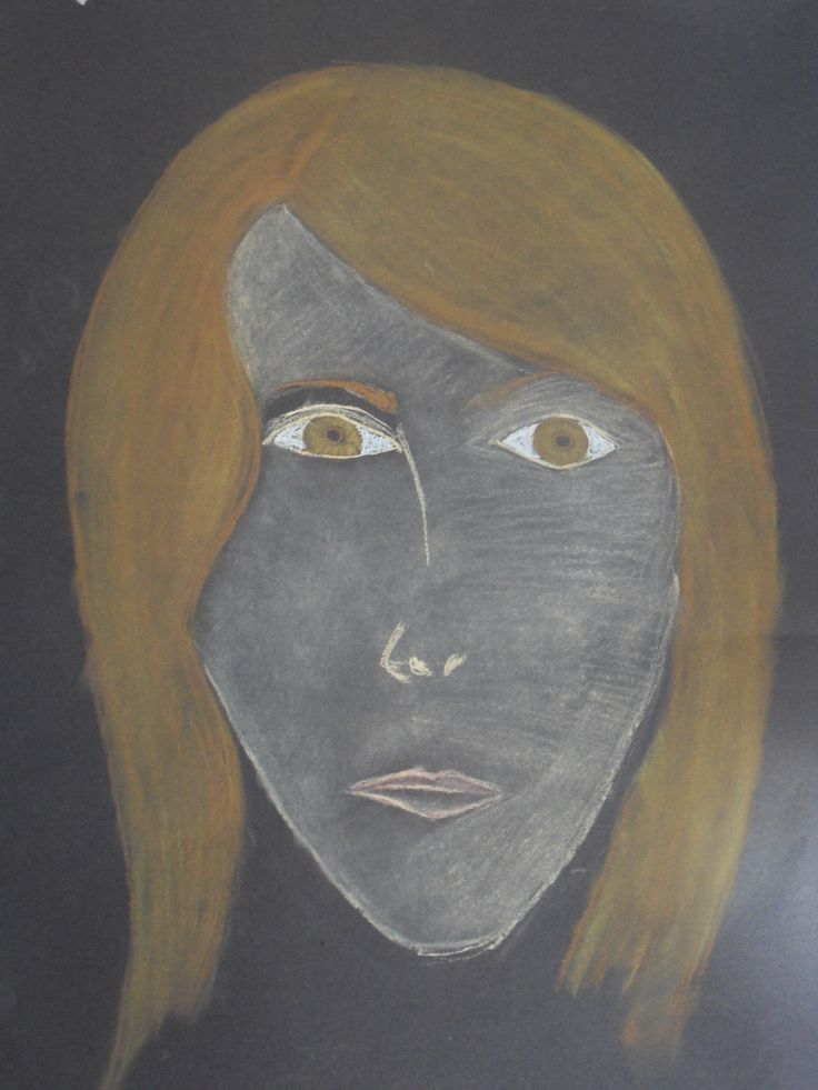 Self portrait (soft pastels)