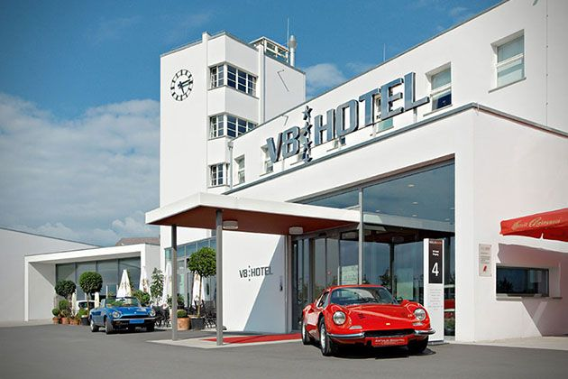 The V8 Hotel: Automotive Themed Hotel in Stuttgart