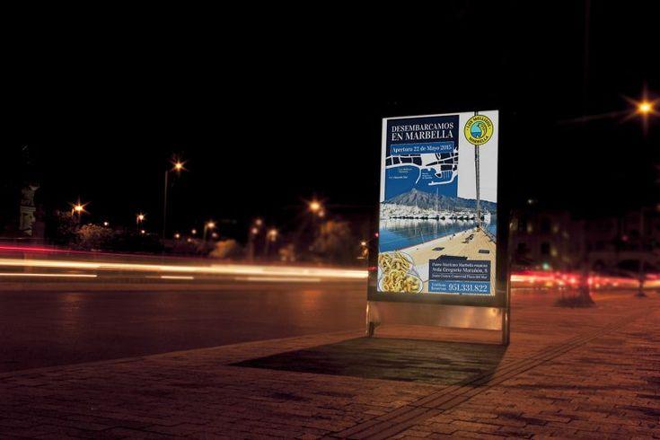 Campaña de apertura para #losmellizos por #Dika. #estudio #studio #proyecto #project #málaga #marbella #costadelsol #diseño #design #graphic #gráfico #creatividad #creativity #campaña #campaign #apertura #open #publicidad #publicity #advertising #claim #invitación #invitation #flyers #díptico  #diptych #restauración #restaurante #restaurant #pescado #fish #mupi
