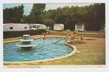 Bognor Regis - Riverside caravan park + swimming pool slide 1978 postcard Sussex