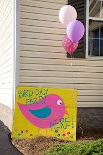 #bird themed birthday party - #bird welcome sign