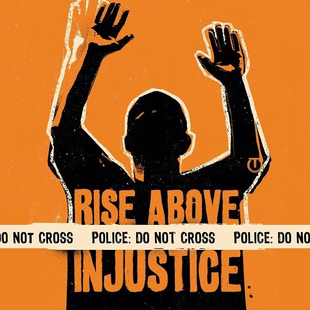 """""""showing up for racial justice"""" By Tes One Artwork used with permission."""