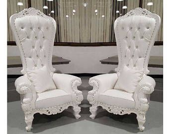 Two Throne Chair Package w/ White Trim