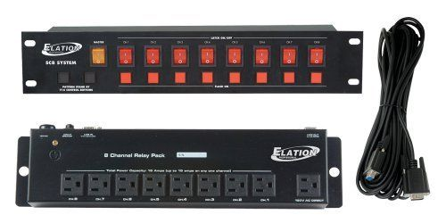 Elation Sc8 System 8 Channel Lighting Control System by American DJ. $99.99. Effect light control system, includes a manual 2 rach controller, 8 ch relay pack and 25 ft low voltage link cable