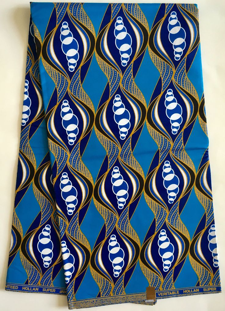 A personal favorite from my Etsy shop https://www.etsy.com/listing/511572992/african-print-fabric-ankara-blue-gold