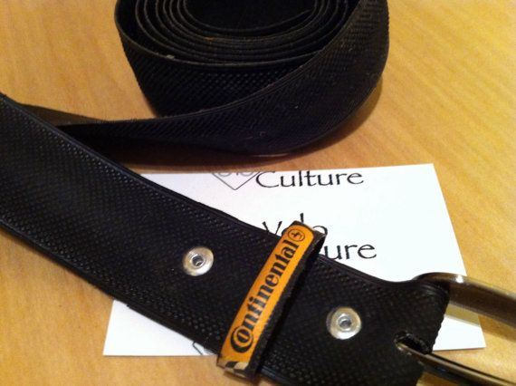 Recycled bicycle tyre belt  Continental Comp by VeloCulture, £20.00