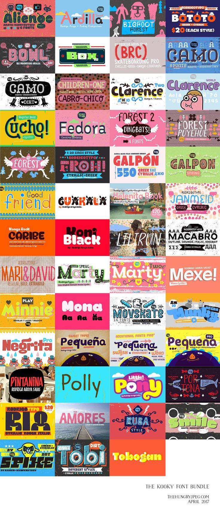 232 best craft blogging images on pinterest education inbound the kooky font bundle fonts fandeluxe Image collections