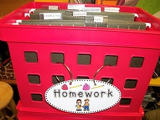 collect homework in folders!  this way, it's alphabetized and you can immediately see who's not done it!!  great idea.