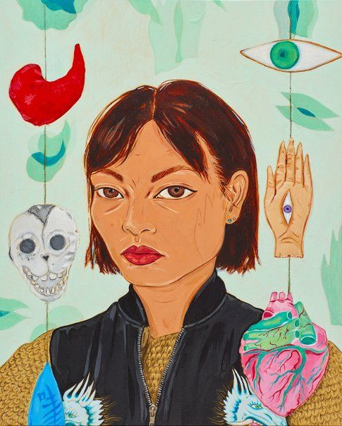 Kate Beynon: With amulets and their shadows :: Archibald Prize 2017 :: Art Gallery NSW