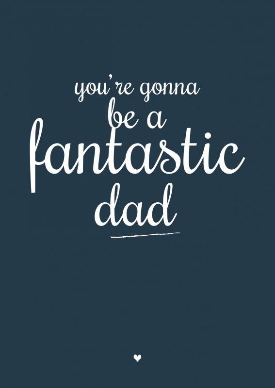 Zwangerschapskaart fabulous dad aanstaande vader kaartje ansichtkaart geboortekaartje zwanger zwangerschap vader papa