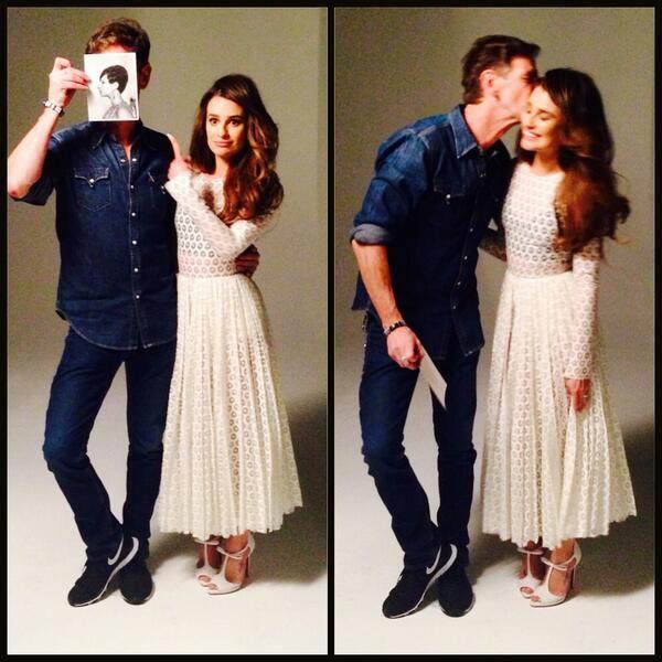 Photo shoot for glamor magazine lea michele