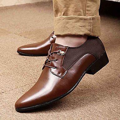 herenschoenen puntige teen lage hak faux leder Oxford schoenen meer kleuren beschikbaar - EUR € 39.99