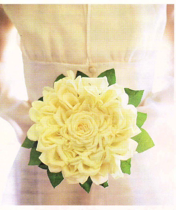 couture rose- wired petal bouquet