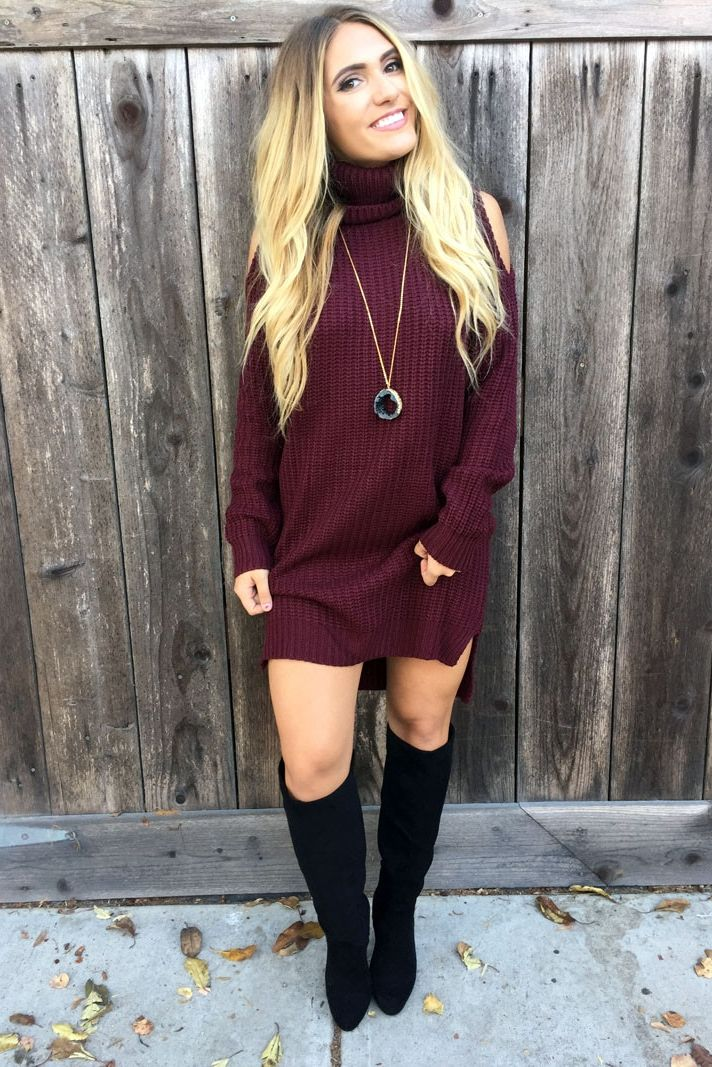brilliant outfits with sweater dress