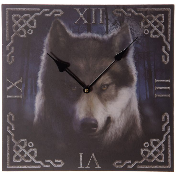 Gothic Fantasy Haunting Wolf Print Wall Clock Every room needs a clock and with our range of fantasy funky and colourful MDF picture clocks you will