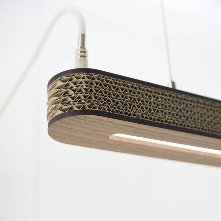 Cartoni 900: cardboard LED pendant lamp design by Wisse Trooster – upcycleDZINE