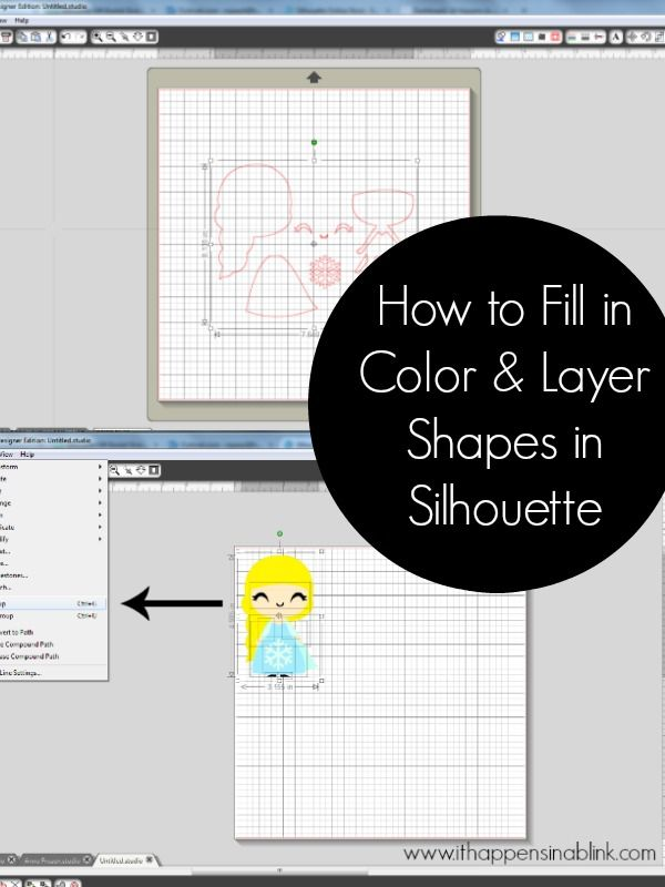 How to Fill in Color and Arrange Shape Layers in Silhouette Studio - It Happens in a Blink