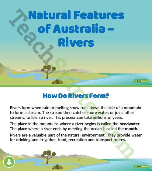 Teaching Resource: A 14 slide editable PowerPoint template to use when introducing Australia's rivers.