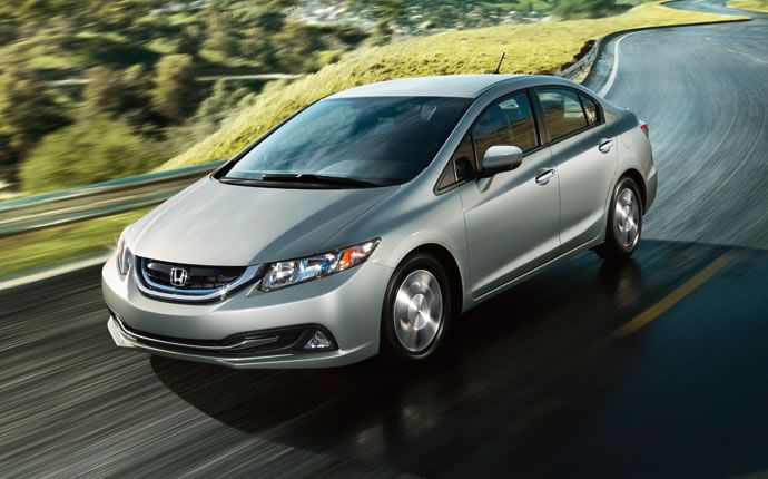 2015 Honda Civic Hybrid Vs. 2015 Toyota Prius Comparison | Exterior on the 2015 Civic Hybrid