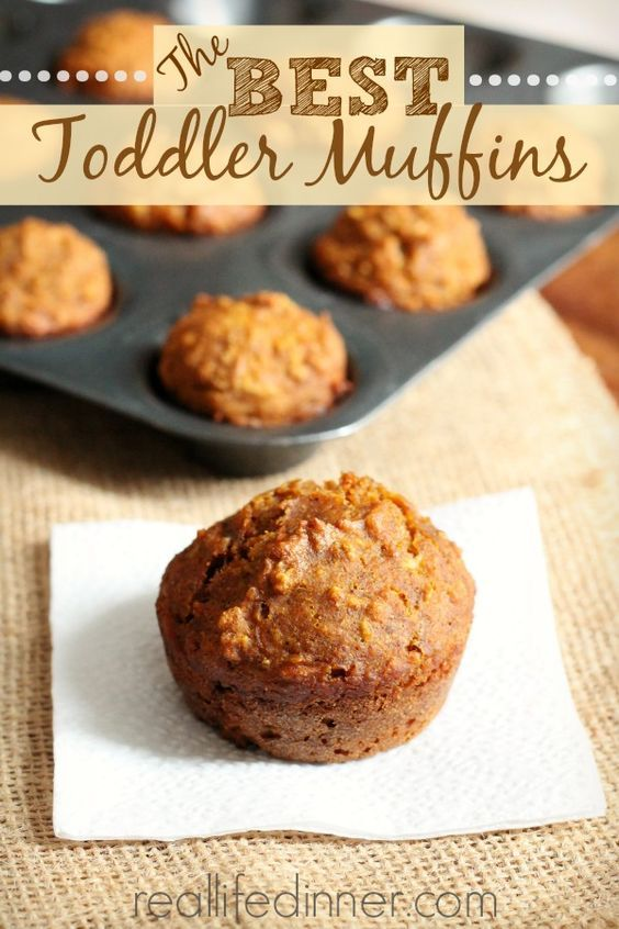 The BEST Toddler Muffins. Kids and adults can't get enough of these delicious healthy muffins. | reallifedinner.com