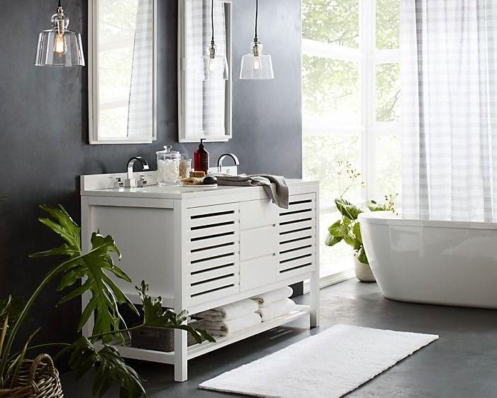 113 best bathroom essentials images on pinterest - Crate and barrel bathroom vanities ...