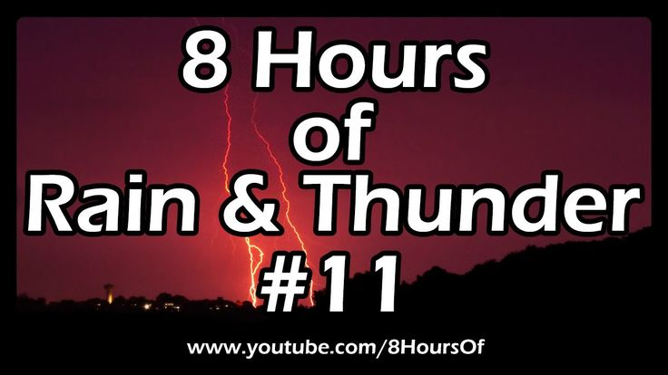 8 HOURS OF SLEEP SOUNDS: Best Long Relaxing RAIN AND THUNDER SOUNDS For ...