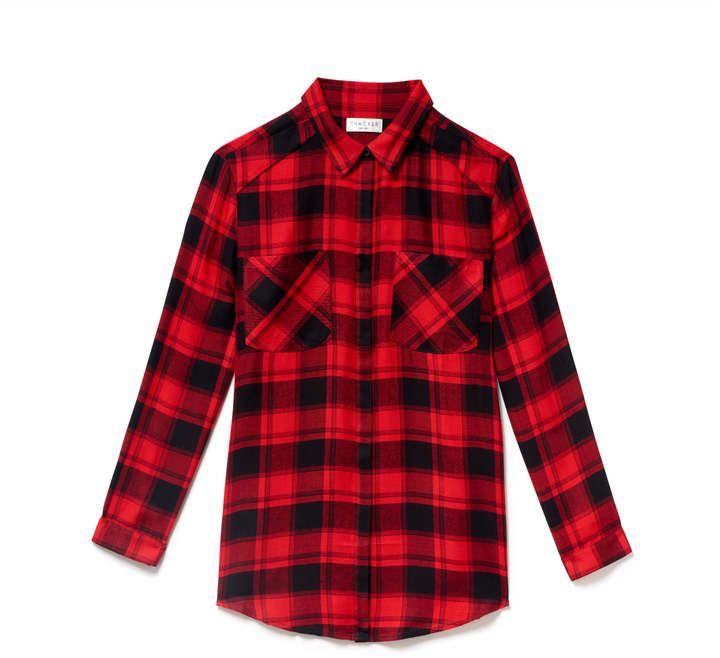 Thacker New York - Dixon Boyfriend Shirt Red Plaid