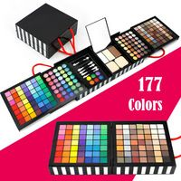 Venta caliente Profesional Maquiagem Eye Shadow Powder Blush Palette 177 Cosméticos de color maquillaje de sombra de ojos Traje Con Esponja y espejo