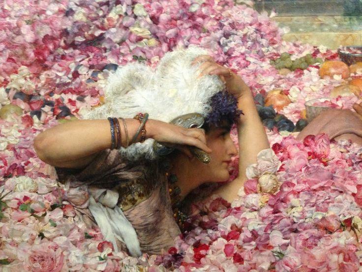 - Sir Lawrence Alma Tadema / / The roses of Heliogabalus - détail: