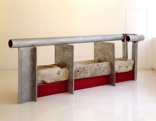 Anthony Caro South Passage 2005 steel, galvanised & painted red, 91 x 136 x 68 inches