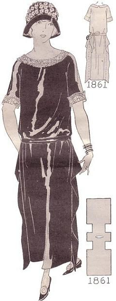dress-pattern, No. 1861 1924 (the two hour dress strikes again...)